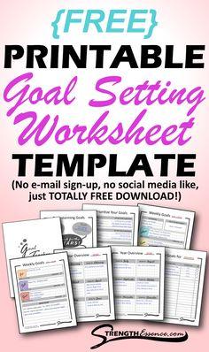 Free Printable Calendar Templates, Goals Printable, Free Printables, Free Calendar, 2021 Calendar, Goal Setting Template, Goals Template, Goals Worksheet, Goal Setting Worksheet