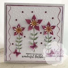 Blooming Flowers, Flower Petals, Cut Flowers, Chloes Creative Cards, Stamps By Chloe, Mothering Sunday, Flower Cards, Birthday Cards, Projects To Try