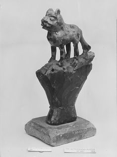 Dog Attributed to Wilhelm Schimmel (probably 1817–1890) Date: 1865–90 Geography: Mid-Atlantic, Pennsylvania, United States Culture: American Medium: White pine Dimensions: 6 3/4 in. H. (17.15 cm)