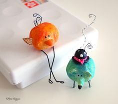 paperclay, inspiration from her own drawing - so very cute