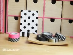 My Washi Tape: My home office in black, white and pink!