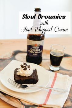 Stout-Beer-Brownies-with-Stout-Whipped-Cream-Title-Image