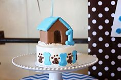 BettsMade 's Birthday / Puppy Party - Photo Gallery at Catch My Party Smash Cake First Birthday, Dog First Birthday, Puppy Birthday Parties, Puppy Party, Birthday Fun, Birthday Ideas, Dog Cakes, Cute Cakes, Cake Smash