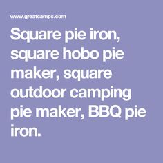 Square pie iron, square hobo pie maker, square outdoor camping pie maker, BBQ pie iron.
