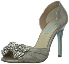 Blue by Betsey Johnson Women's Gown Pump,Silver Metallic,7 M US Betsey Johnson http://smile.amazon.com/dp/B00AQ4I4CQ/ref=cm_sw_r_pi_dp_3Uw6wb18W6PFA