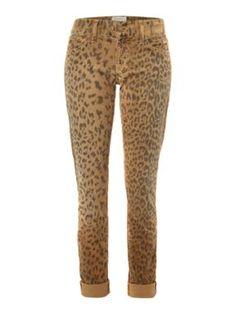 Current Elliott: Skinny leopard print rolled jean