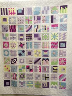 Liz's Tula Pink sampler quilt on display at Harrogate quilt show.