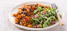 I'm cooking Penne Caponata with Green Chef https://greenchef.com/recipes/caponata-penne-with-baby-arugula-and-roasted-red-pepper-salad