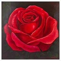 Painting The Roses Red, Roses Painting Acrylic, Realistic Rose, Flower Close Up, Bild Tattoos, Realistic Paintings, Rose Paintings, Small Canvas Art, Aesthetic Painting