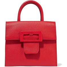 Maison Margiela Buckle textured-leather tote ($3,140) ❤ liked on Polyvore featuring bags, handbags, tote bags, purses, red, crossbody handbags, man bag, zip tote, handbags crossbody and tote handbags