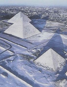 Pyramids covered in snow. An amazing sight. 2.3.2018