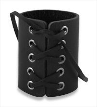 Leather cuff bracelet for the Pirates look
