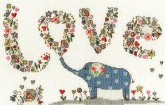 Love Elephant Cross Stitch - Bothy Threads *NEW*