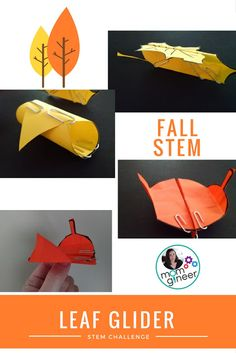 Simple Fall STEM Activity with Paper - A Leaf Glider! - Meredith Anderson Momgineer