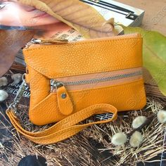 Real Leather!!   Real Leather Clutch Evening Mobile Cell Phone Bag. Holds you money, cc cards, mobile phone keys...etc.