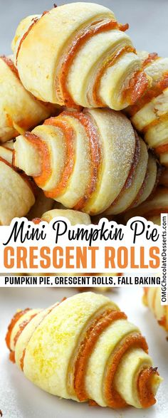 Mini Pumpkin Pies, Easy Pumpkin Pie, Mini Pumpkins, Pumpkin Rolls, Apple Pies, Pecan Pies, Vegan Pumpkin, Pumpkin Dessert, Köstliche Desserts