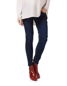 ASOS Maternity TALL Ridley Skinny Jean In Midwash With Over The ...