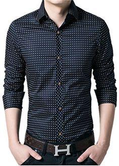 Long Sleeve Shirt Dress, Dress Shirt, Casual Wear, Men Casual, Henleys, Boys Shirts, Shirt Style, Dark Blue, Menswear