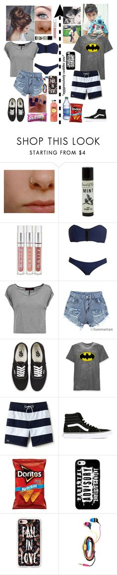 """""""Beach Date"""" by emmcg915 ❤ liked on Polyvore featuring Lisa Marie Fernandez, Alice + Olivia, Ravel, Vans, Hybrid, Lacoste and Casetify"""