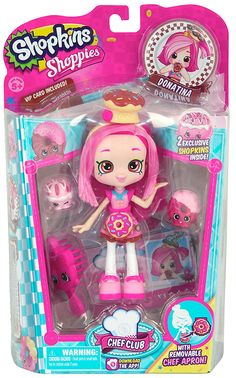 Amazon.com: Shopkins Chef Club Shoppies Season 3 Donatina Doll: Toys & Games