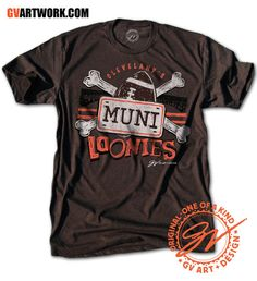 Cleveland Muni Loonies T shirt - Size: S