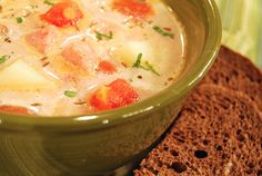 Ingredients: 4 cups chicken stock 6 medium size potatoes, peeled and diced into one inch chunks 1 medium onion, chopped 1 (28 ounce) can of diced tomatoes 2 cups sour cream, divided 1 ring of kielbaska, chopped into bite size pieces 1 tablespoon caraway seeds Salt and pepper to taste 2 tablespoons chopped Italian parsley …