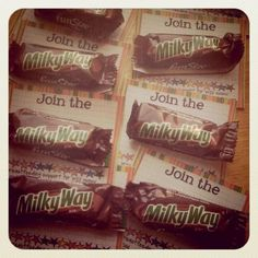 """Join the Milky Way""   (These are my breastfeeding ""business cards"")"