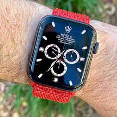 Describe this Apple watch Rolex design! Apple Watch Iphone, エルメス Apple Watch, Apple Watch Fashion, Apple Watch Faces, Apple Watch Series, Phone Apple, Apple Watch Bands Mens, Design Apple Watch, Cool Watches