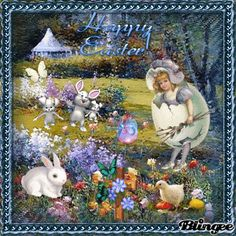 Vintage Easter Happy Easter Wishes, Just Magic, Fairy Crafts, Easter Pictures, Easter Art, Easter Printables, Glitter Graphics, Vintage Easter, Disney Mickey Mouse