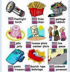 British and American English British And American English, Irish English, English Tips, English Fun, British Boys, English Writing, English Study, Teaching English, Learn English