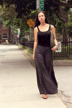 Palazzo pants can help to hide heavy thighs..  http://thedresssense.com/6-style-tips-to-hide-heavy-thighs/