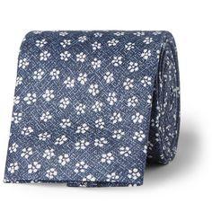 Oliver Spencer Sorrell Floral-Print Linen Tie | MR PORTER