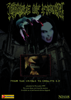 Cradle of Filth - From the Cradle to Enslave full page ad (version 2). Client: Music For Nations. Circa 1999. © Sean Mowle.
