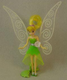 "Tinker Bell Fluttering Pixie-dusted Wings 5"" Plastic Figurine Disney Peter Pan #Playmates #Figurines"