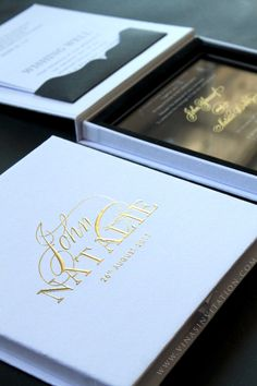 Vinas invitation. acrylic invitation. vinas sydney. sydney wedding invitation. perspex invitation. acrylic invitations. gold foil . gold font. gold lettering. any question pls visit us at website www.vinasinvitation.com. courtesy of John & Natalie