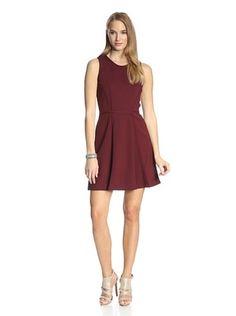 63% OFF Ali Ro Women's Ollie Fit-and-Flare Dress (Red Velvet)