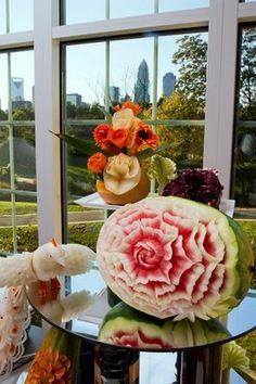 My carved watermelon #food_art #food art