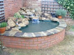 something like this Fish Pond, Outdoor Decor, Diy Retaining Wall, Wall, Home Decor, Wall Design, Small