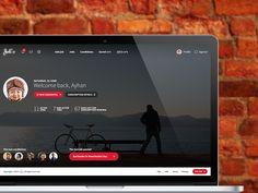 Recruitment website dashboard by Ayhan Bari