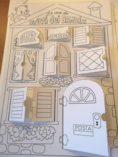 Diy For Kids, Crafts For Kids, Libros Pop-up, Paper Doll House, Paper Houses, Diy And Crafts, Paper Crafts, Up Book, Printable Designs