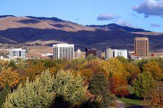 Boise skyline fall