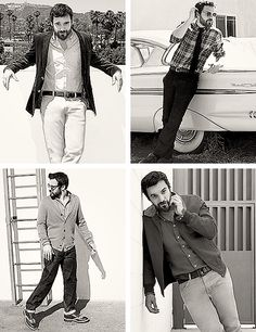 Jake Johnson. I didn't think I could adore him more....then I see him with a beard. Swoon!