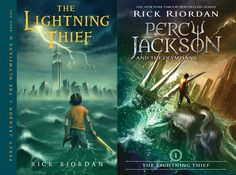 The Lightning Thief old cover vs new cover