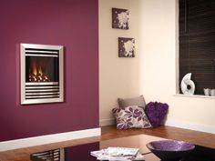 Expression, High Efficiency, Wall Mounted, Gas Fire, Silver Fascia, Coal Fuel Bed