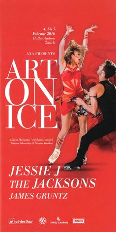 ART ON ICE - JESSIE J - THE JACKSONS - STÉPHANE LAMBIEL - 2016 - ORIG. FLYER