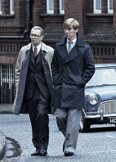 Peter Guillam and George Smiley (Tinker Tailor Soldier Spy)