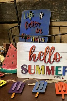 If you love summer like I do, you'll have fun painting and displaying this project! All the summer feels! #tieredtray #myetsyshop