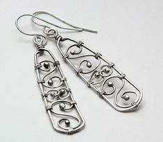cool Sterling Silver Handmade Earrings Wire Wrapped Spiral Filigree by http://dezdemon-jewelty.pw/wire-jewelry/sterling-silver-handmade-earrings-wire-wrapped-spiral-filigree/