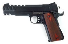 Sig Sauer 1911-22 .22 LR caliber pistol. Highly customized 1911-22 by CWA. Slide has cut reductions.