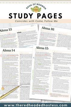 Red Headed Hostess, Teaching Activities, Teaching Ideas, Scripture Study, Scripture Journal, Bible Plan, College School Supplies, Book Of Mormon, Heavenly Father